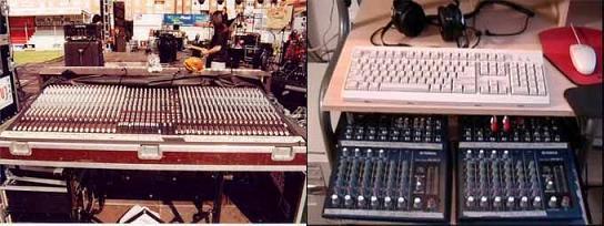 Curso sonido amplificadores mixers consolas microfonos