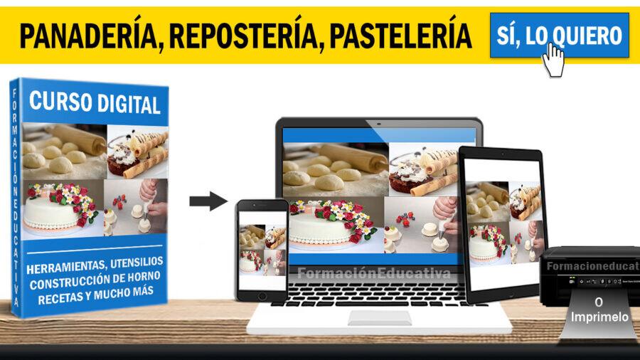 Curso completo de panaderia reposteria pasteleria + recetas