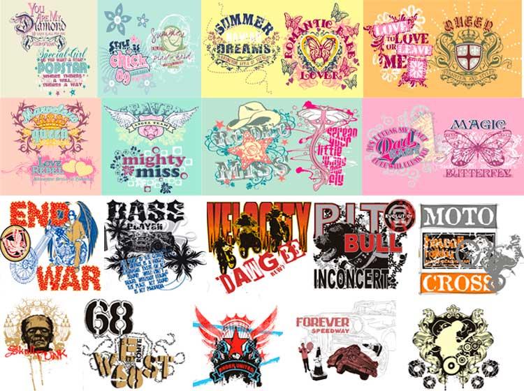 Vectores para camisas y camisetas